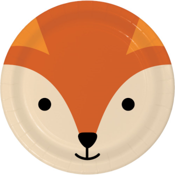 """Picture of ANIMAL FACES - FOX - 9"""" PLATES"""
