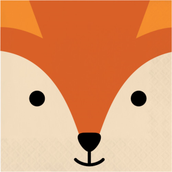 Picture of ANIMAL FACES - FOX - LUNCHEON NAPKINS
