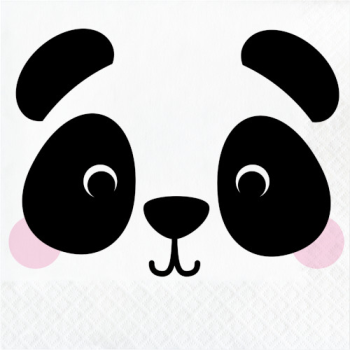 Picture of ANIMAL FACES - PANDA - LUNCHEON NAPKINS