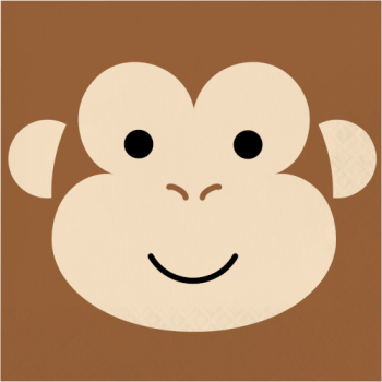 Picture of ANIMAL FACES - MONKEY - LUNCHEON NAPKINS