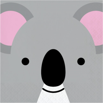 Picture of ANIMAL FACES - KOALA - LUNCHEON NAPKINS