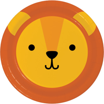 """Picture of ANIMAL FACES - LION - 9"""" PLATES"""