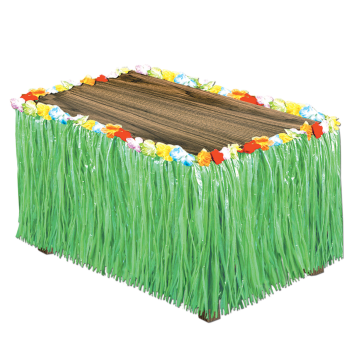 Picture of RAFFIA TABLE SKIRT - GREEN