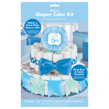 Picture of DECOR - BABY SHOWER DELUXE DIAPER CAKE KIT - BOY