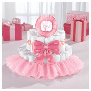 Image de DECOR - BABY SHOWER DELUXE DIAPER CAKE KIT - GIRL