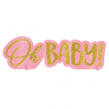Picture of OH BABY GIRL GLITTER CENTERPIECE