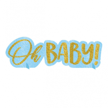 Picture of OH BABY BOY GLITTER CENTERPIECE