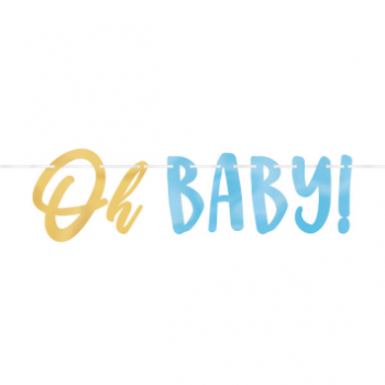 Picture of OH BABY BOY LETTER BANNER