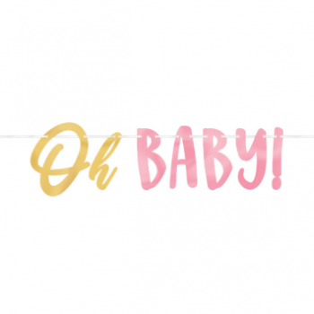Picture of OH BABY GIRL LETTER BANNER