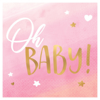 Picture of OH BABY GIRL BEVERAGE NAPKINS