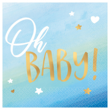 Picture of OH BABY BOY BEVERAGE NAPKINS