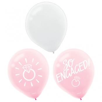 Image de BLUSH WEDDING/ENGAGED LATEX BALLOONS -15CT