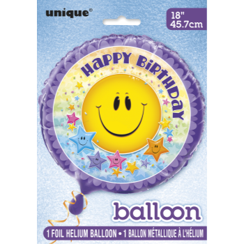"Image de 18"" FOIL - SMILEY STARS BIRTHDAY"