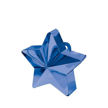 Picture of PLASTIC STAR  BALLOON WEIGHT - BLUE