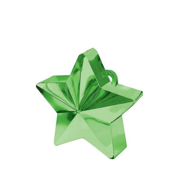 Picture of PLASTIC STAR  BALLOON WEIGHT - GREEN