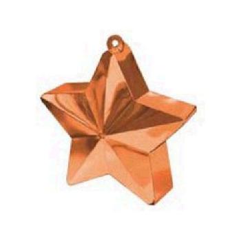 Picture of PLASTIC STAR  BALLOON WEIGHT - ORANGE