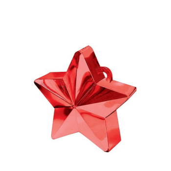 Picture of PLASTIC STAR  BALLOON WEIGHT - RED