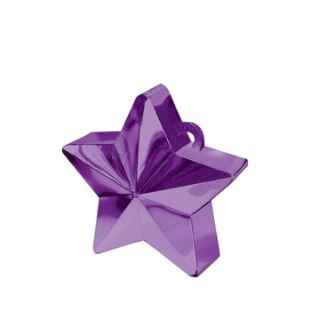 Picture of PLASTIC STAR BALLOON WEIGHT - PURPLE