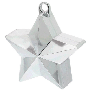 Picture of PLASTIC STAR  BALLOON WEIGHT - SILVER