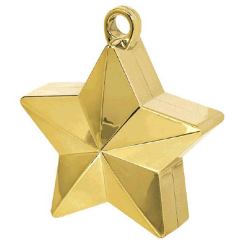 Picture of STAR FOIL BALLOON WEIGHT - GOLD