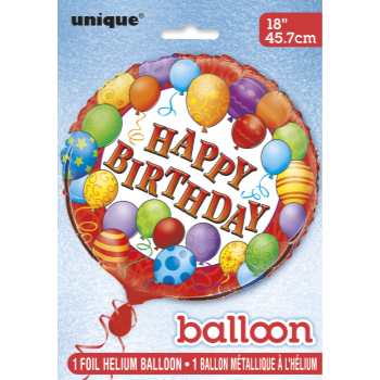 "Picture of 18"" FOIL - BIRTHDAY BALLOONS"