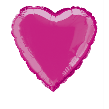 "Image de 18"" FOIL - HOT PINK HEART"