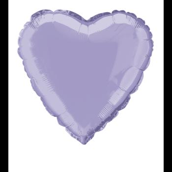 """Image de 18"""" FOIL - LILAC HEART"""