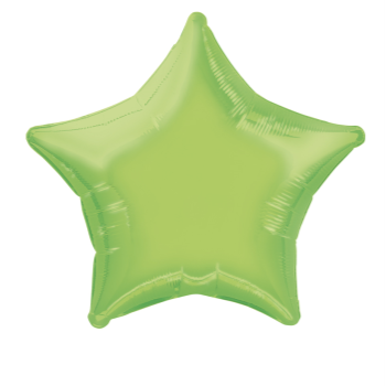 "Image de 20"" FOIL - LIME GREEN STAR"