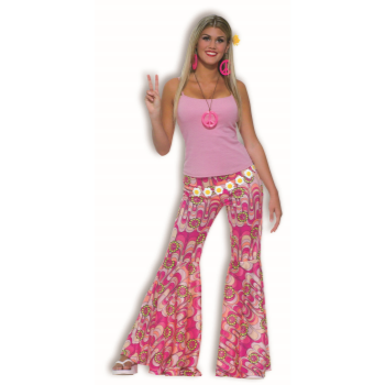 Image de 60'S BELL BOTTOM PANTS - FLOWER POWER