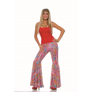 Image de 60'S BELL BOTTOM PANTS - WILD SWIRLS