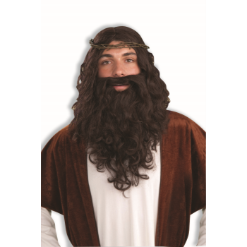 Image de JESUS WIG & CROWN KIT