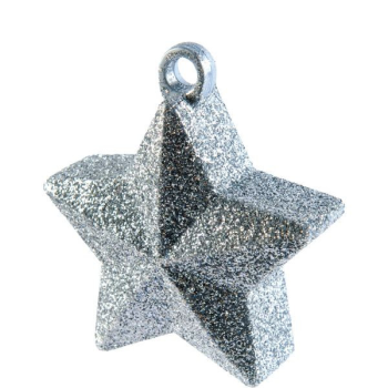 Image de GLITTER STAR BALLOON WEIGHT - SILVER