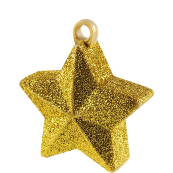 Image de GLITTER STAR BALLOON WEIGHT - GOLD