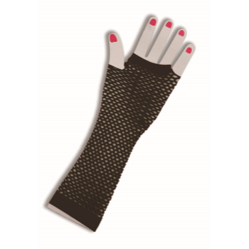 Image de 80'S FISHNET FINGERLESS GLOVES - LONG BLACK