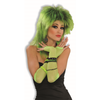 Image de 80'S FISHNET FINGERLESS GLOVES - LONG LIME