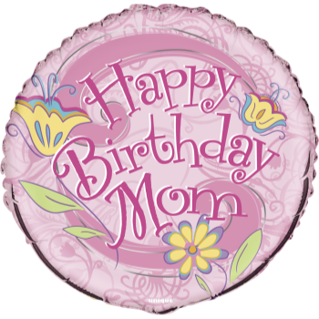 "Image de 18"" FOIL - FLORAL BIRTHDAY MOM"