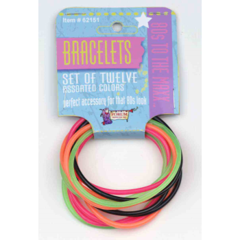 Image de 80'S NEON BANGLE BRACELETS - 12/PACKAGE