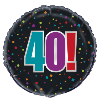 "Picture of 40th - 18"" FOIL BALLOON - BIRTHDAY CHEER"