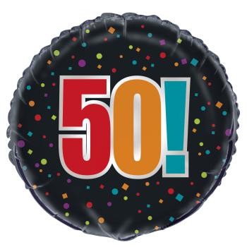 "Image de 50th - 18"" FOIL BALLOON - BIRTHDAY CHEER"