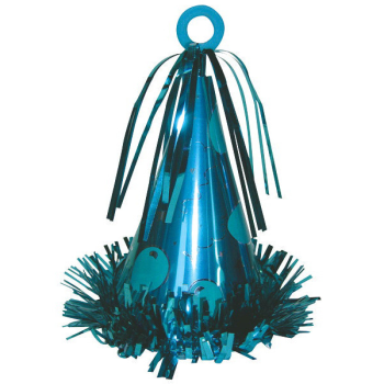 Picture of PARTY HAT BALLOON WEIGHT - CARIBBEAN BLUE