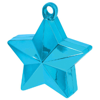 Picture of PLASTIC STAR  BALLOON WEIGHT - CARIBBEAN BLUE