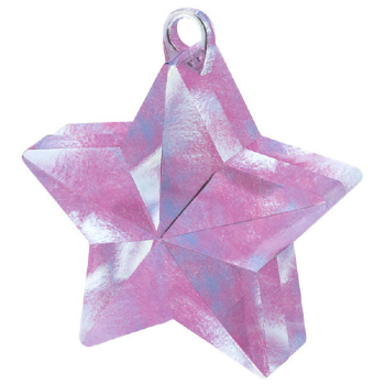 Picture of PLASTIC STAR  BALLOON WEIGHT - IRIDESCENT
