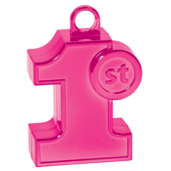 Image de 1ST BIRTHDAY PINK SHAPED BALLOON WEIGHT