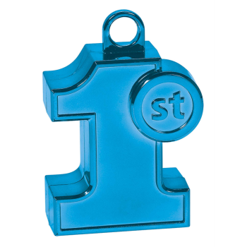 Image de 1ST BIRTHDAY SHAPED BLUE BALLOON WEIGHT