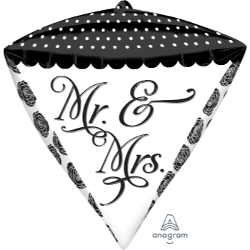 Image de MR & MRS DIAMOND FOIL CONE SHAPE