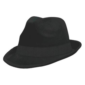 Picture of BLACK FELT FEDORA HAT