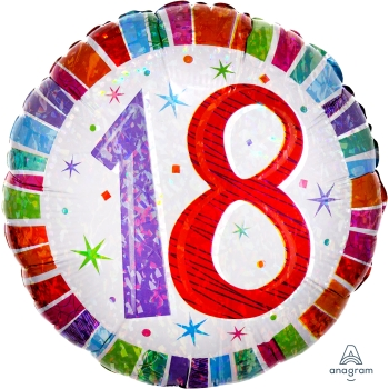 "Picture of 18"" FOIL - 18TH RADIANT BIRTHDAY"
