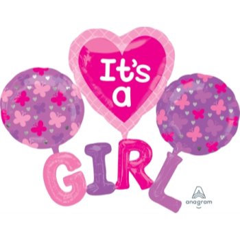 Image de IT'S A GIRL SUPERSHAPE BALLOON