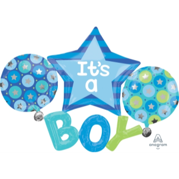 Image de IT'S A BOY SUPERSHAPE BALLOON