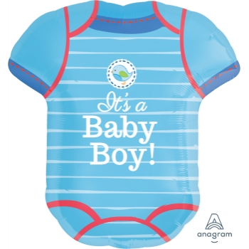 Image de SHOWER WITH LOVE BLUE ONESIE SUPERSHAPE